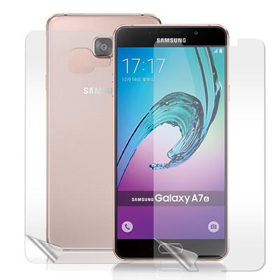 VXTRA 三星 Galaxy A7 (2016) 高透光亮面耐磨保護貼(正反雙...