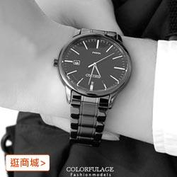 SEIKO精工腕錶 全黑不鏽鋼帶手錶