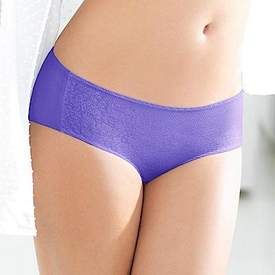黛安芬-超彈力魔術胸罩 M-EL平口內褲(紫春花開)