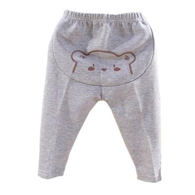 熊印花厚刷毛保暖長褲 k60026