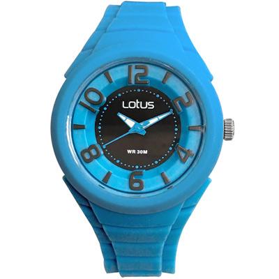 Lotus 撞色潮流 立體指針休閒女錶(TP2132L-09)-水藍/37mm
