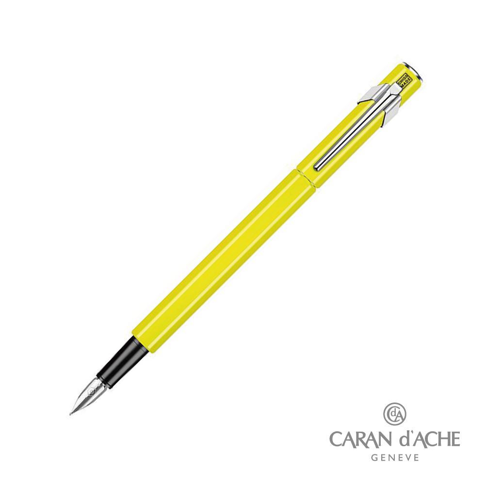 CARAN dACHE 卡達 - Office│line 849 鋼筆 螢光黃
