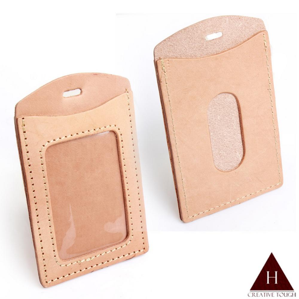 【H-CT】原皮色雙面直式可吊掛證件悠遊卡套(IRA01-Z)