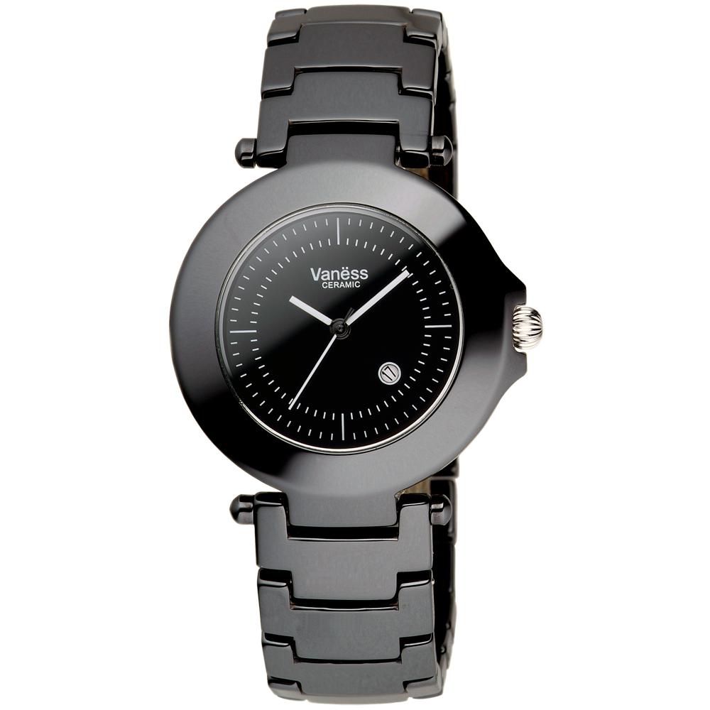 Vaness黑色魔力陶瓷腕錶35mm