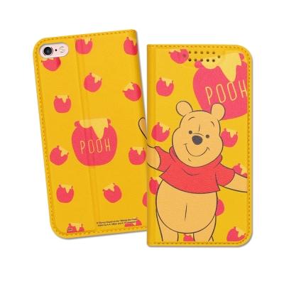 迪士尼授權正版 iPhone 6S Plus 5.5吋 印花系列彩繪皮套(維尼)