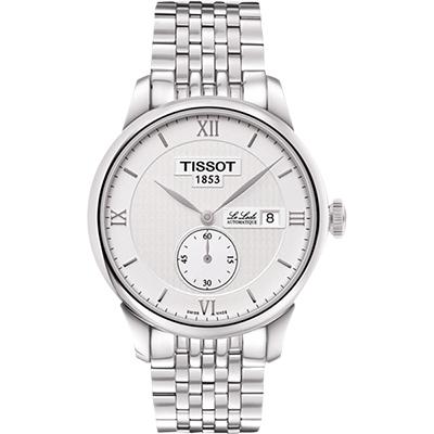 TISSOT Le Locle Gent 力洛克小秒針機械腕錶-銀/39mm T0064281103801