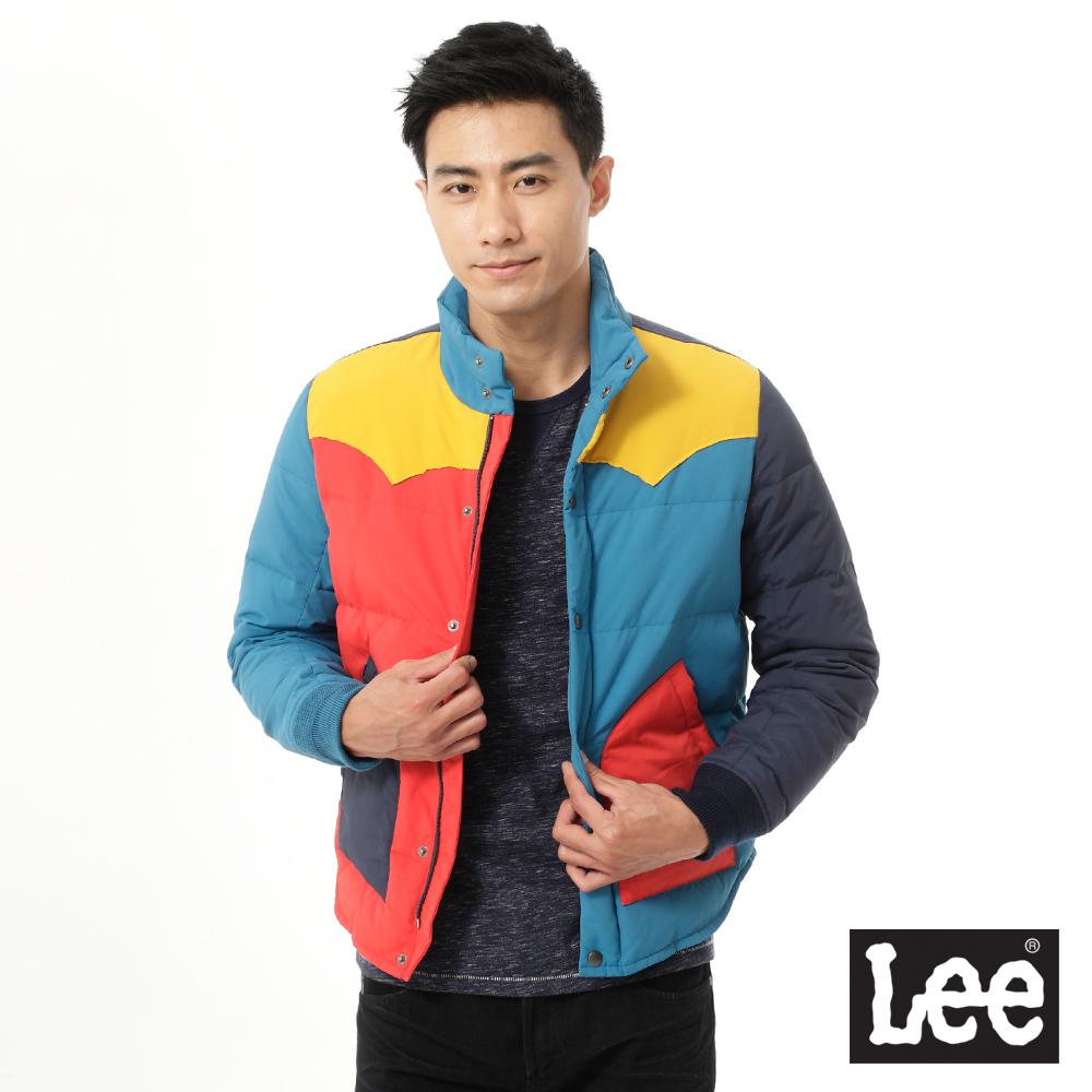 Lee 羽絨外套 輕量色塊拼接-男款(彩色)