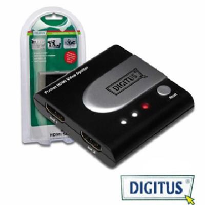 曜兆DIGITUS HDMI 一進二出分配器-DS-41302(行動款)