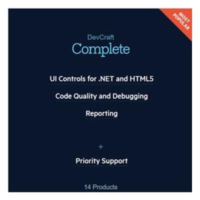 Telerik-DevCraft-Complete-控制項元件-單機版-下載版