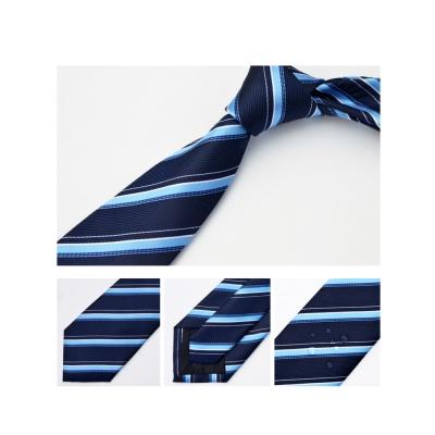 拉福 領帶防水領帶帥意7cm領帶拉鍊領帶(藍斜)