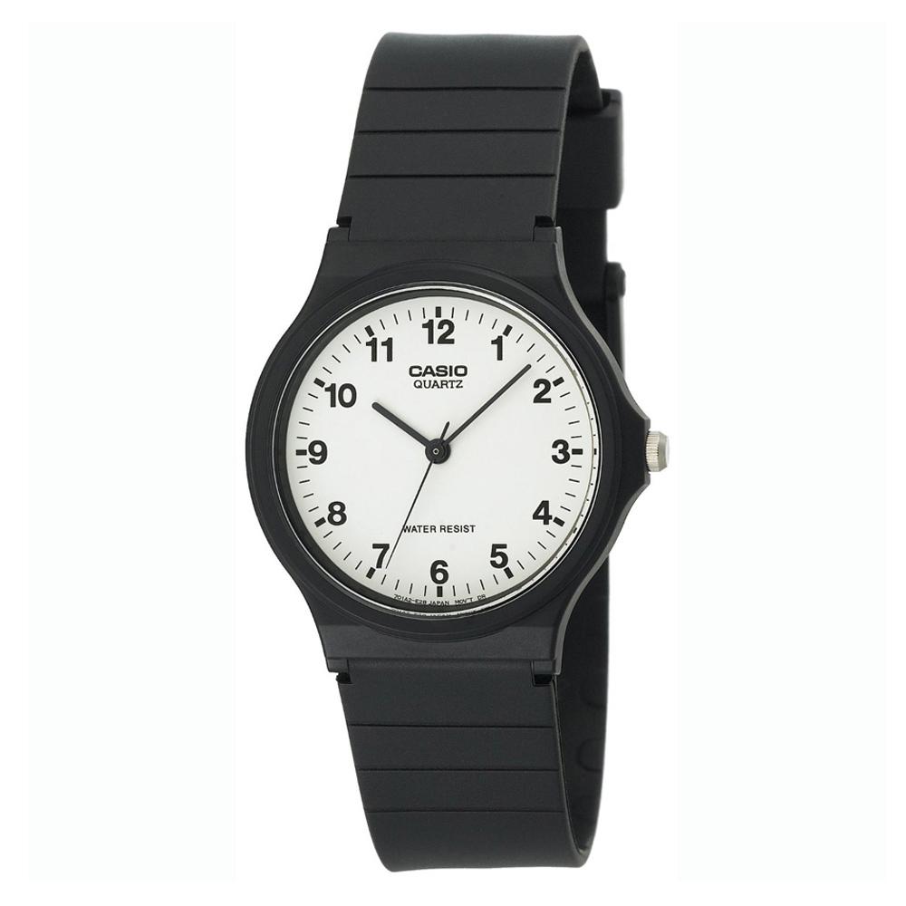 CASIO 超輕薄感數字錶(MQ-24-7B)-白面黑字