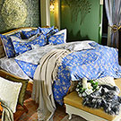 義大利La Belle 蘭陵國境 單人三件式防蹣抗菌舖棉兩用被床包組