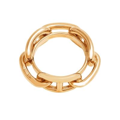 HERMES 經典Regate系列錨鍊造型絲巾環(金)