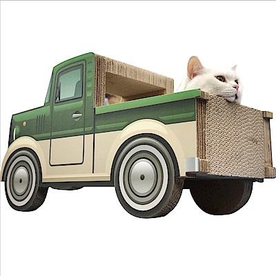 日本寵喵樂《卡車噗噗郊遊趣》貓抓板/貓窩/貓跳台 SY-452