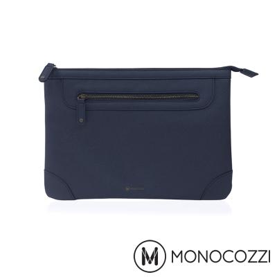 MONOCOZZI Posh Macbook 13 吋皮革保護內袋 - 深藍