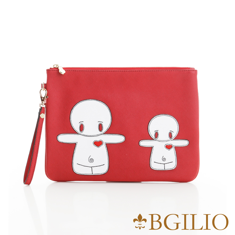義大利BGilio-俏皮童趣造型萬用包(融情雪人-小款)-紅色2243.003-01