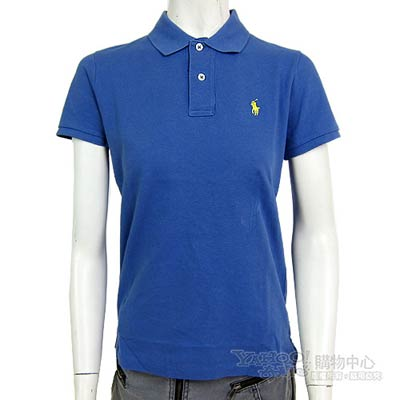 Ralph Lauren 素面小馬POLO女衫(灰藍)(M號)