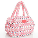 VOVAROVA空氣包-三用肩背托特包-粉粉紅鶴