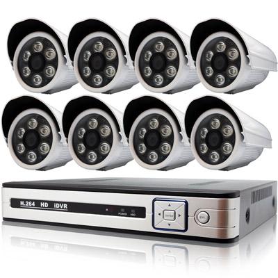奇巧 AHD 1080P 8路4聲監控系統-含SONY 200萬6陣列燈攝影機