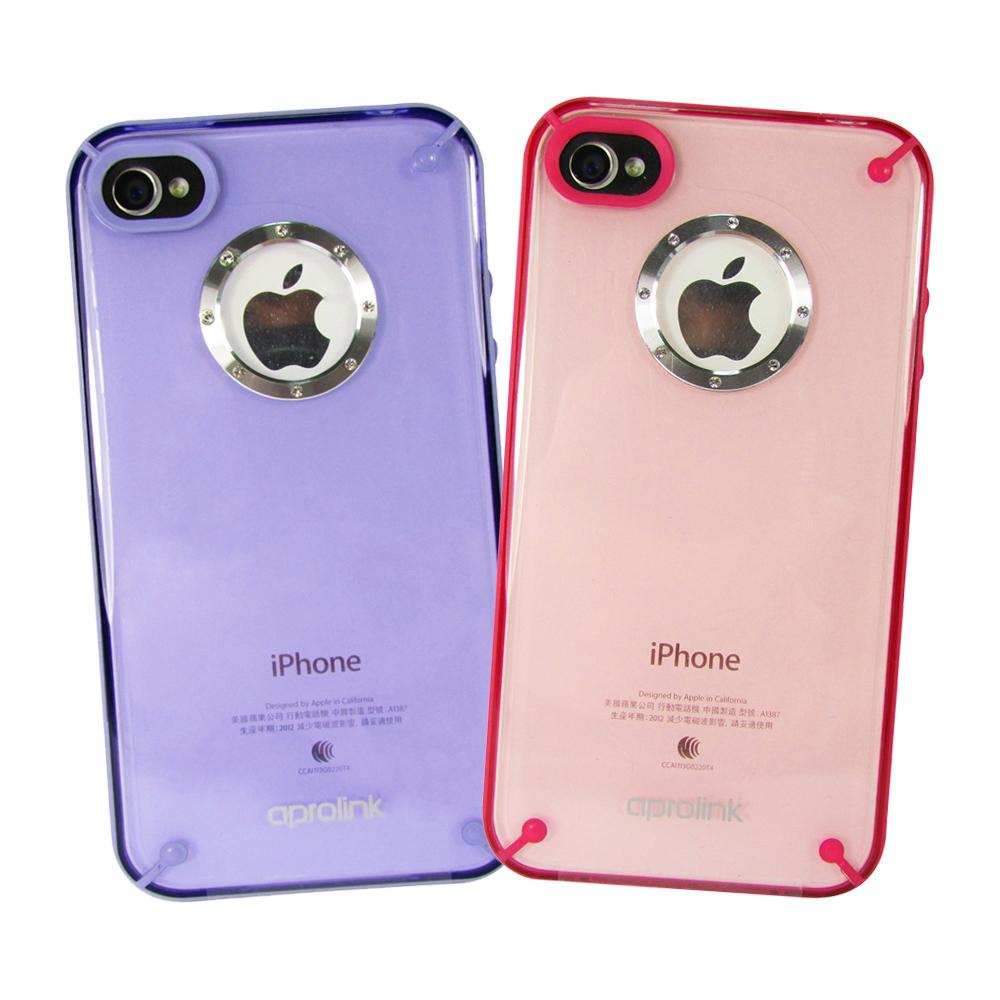Aprolink iPhone 4/4S 水鑽透色保護殼