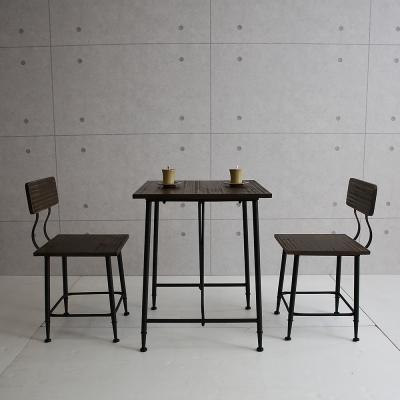 微量元素手感工業風桌椅組一桌二椅