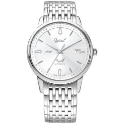 Ogival 瑞士愛其華  1929 復刻紀念機械錶-銀/40mm