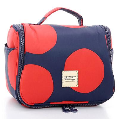 VOVAROVA空氣包-旅行盥洗包plus-波卡圓點(紅)