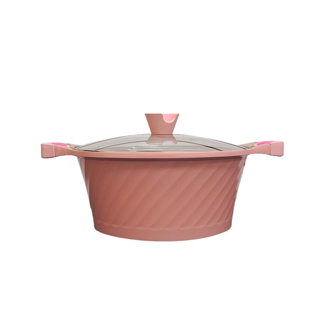 MALUTA瑪露塔 玫瑰深型不沾導磁燜滷鍋30公分