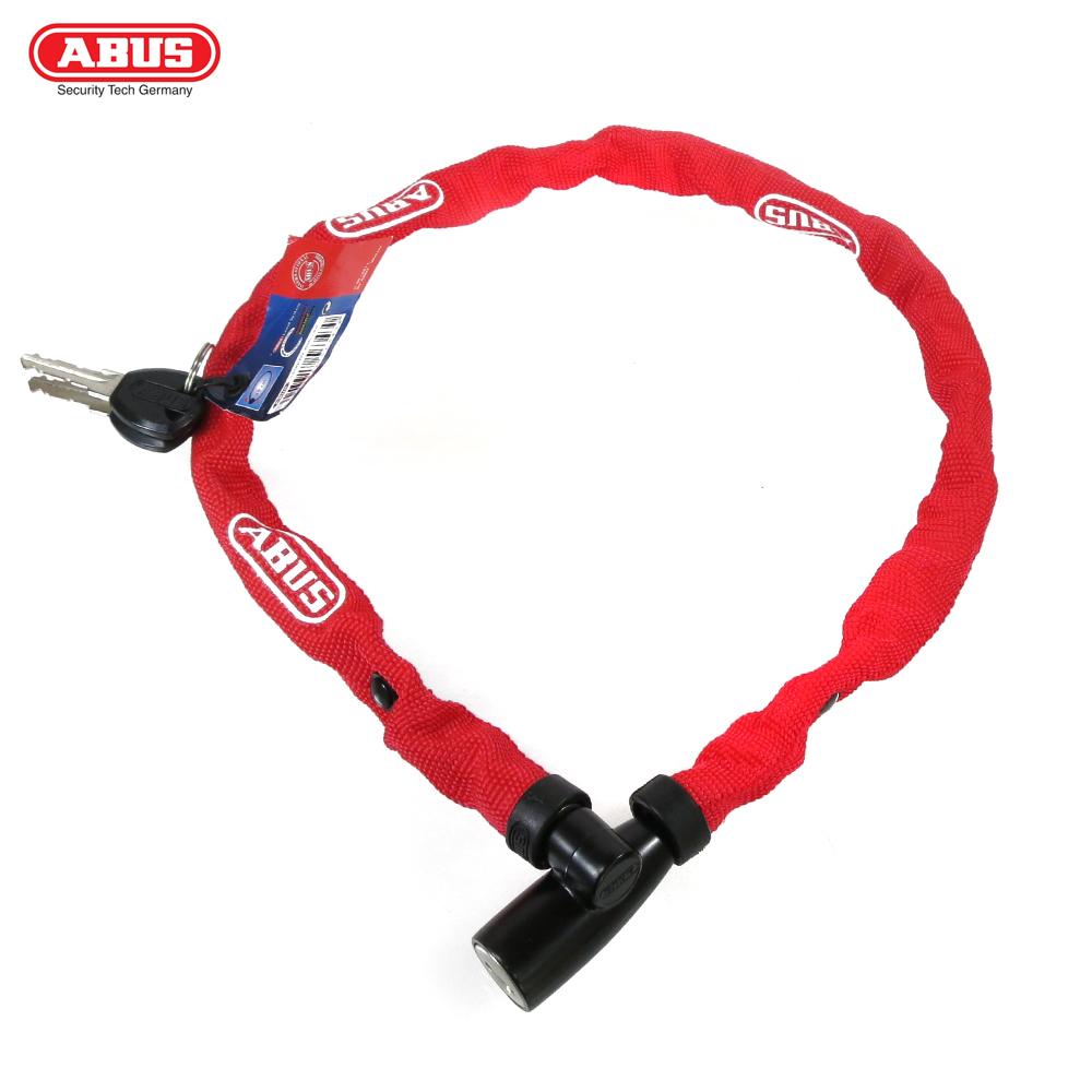ABUS 德國防盜鎖 1500 web Key Chain 60cm單車鑰匙鎖-紅