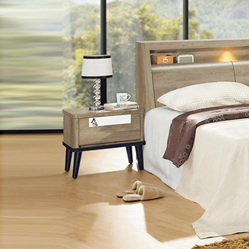 AS-亞岱爾1.8尺仿古色床頭櫃-53x41x51cm