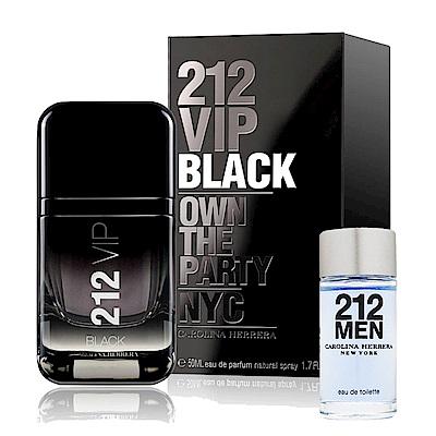 Carolina Herrer 212VIP BLACK男性淡香精50ml (贈品牌小香)