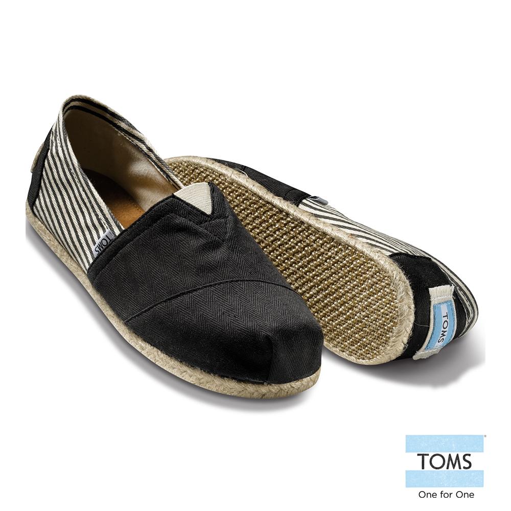 TOMS 經典學院風懶人鞋-女款-黑