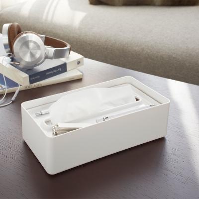 【YAMAZAKI】smart亮彩收納面紙盒-白★衛浴/居家/飾品/萬用收納/衛生紙