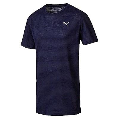 PUMA-男性訓練系列印花短袖T恤-重深藍-歐規