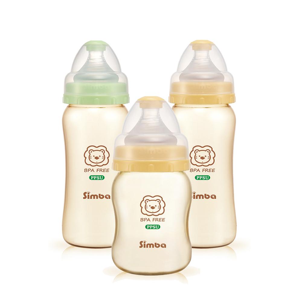 小獅王辛巴 PPSU健康寬口葫蘆奶瓶經濟組(2大1小)