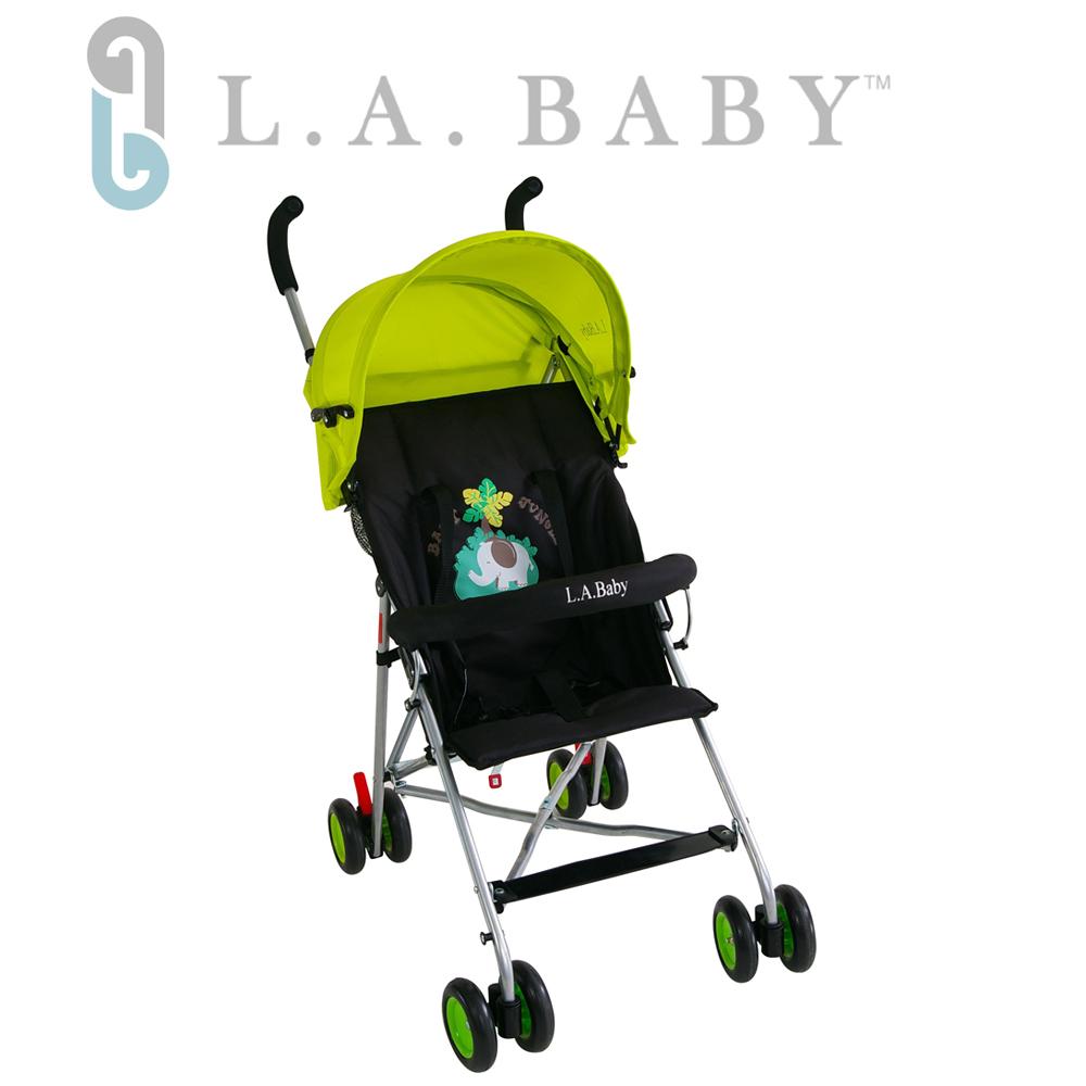 美國 L.A. Baby  亮彩輕便嬰兒手推車(炫彩綠)
