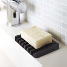 YAMAZAKI Flow斷水流肥皂架-黑★浴室收納/衛浴收納/肥皂盤/肥皂