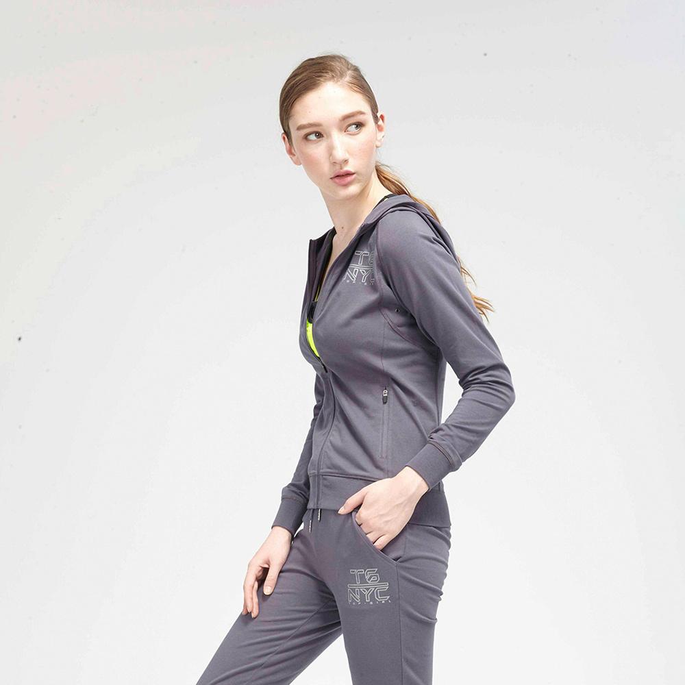 【TOP GIRL】運動針織連帽外套-灰色