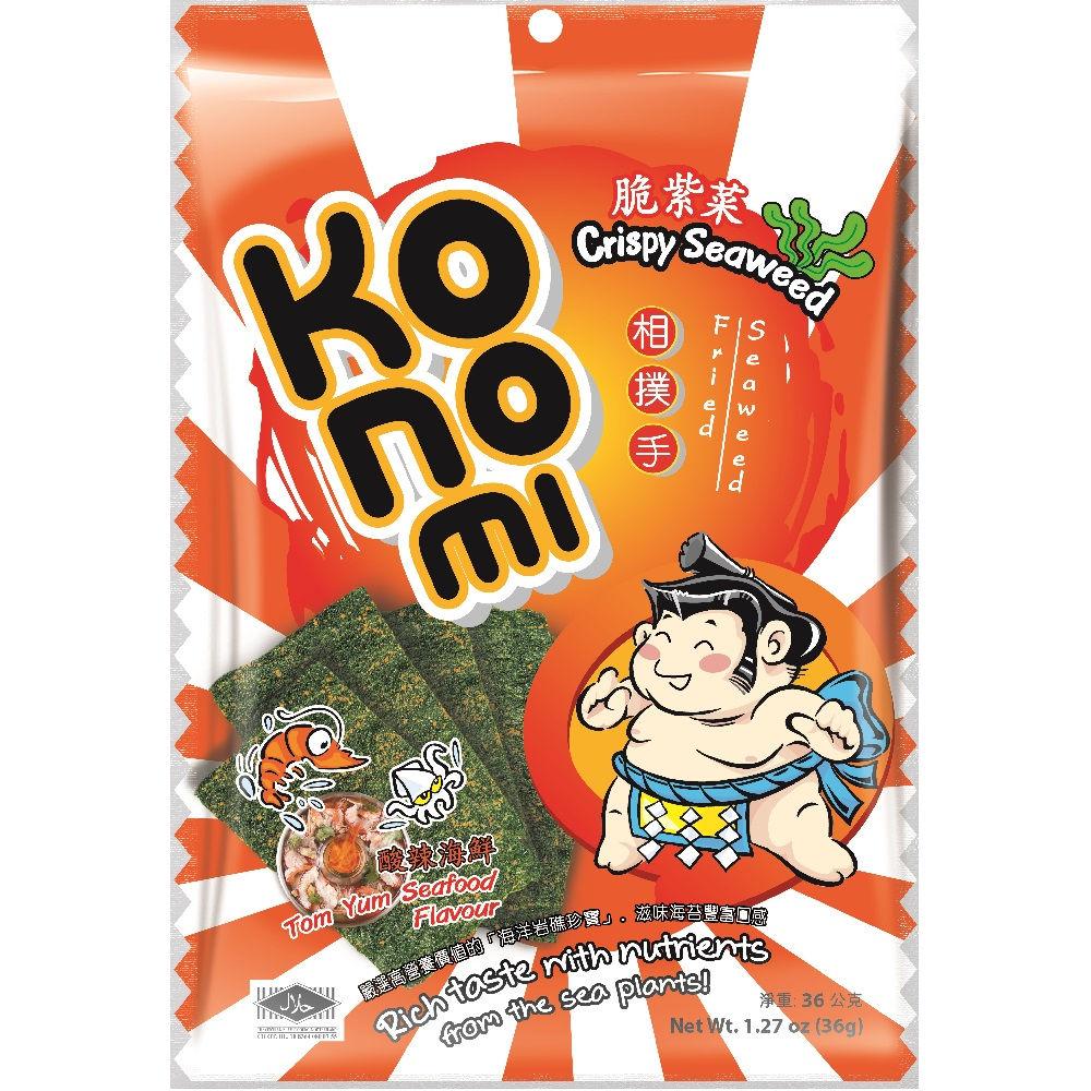 KoNoMi相撲手 脆紫菜-酸辣海鮮(36g)