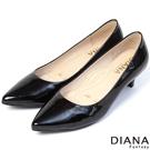 DIANA 漫步雲端焦糖美人C款--素面真皮制鞋-漆黑