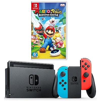 任天堂Nintendo Switch-電光藍/紅 Joy-Con(馬力歐兔子)