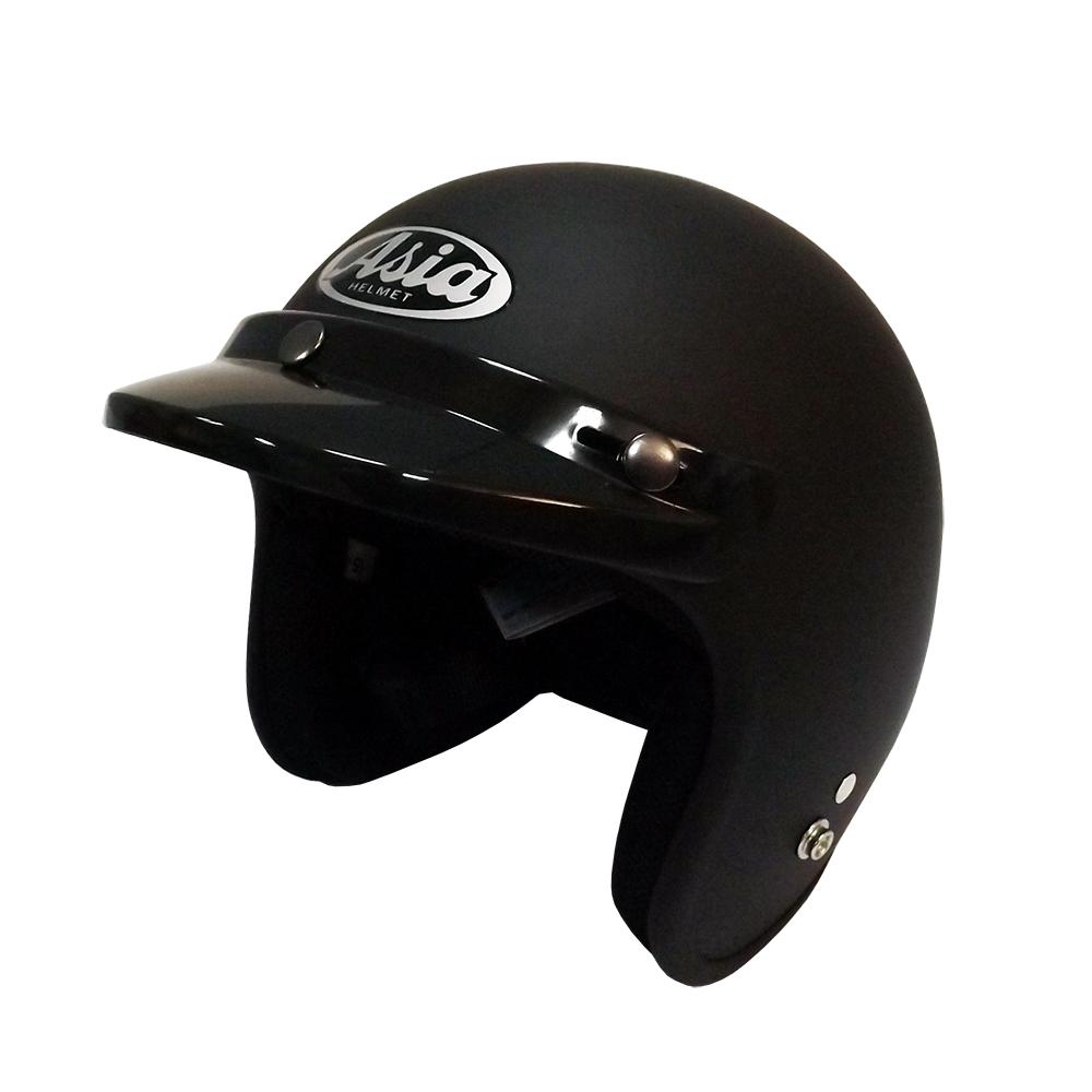ASIA A-706 精裝素色細條安全帽 平黑