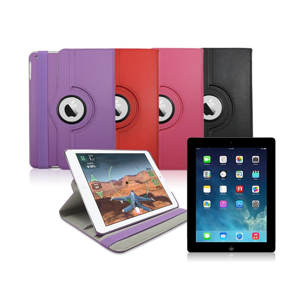 City Boss New iPad/ 2/3/4 iPad4喚醒休眠360度旋轉皮套