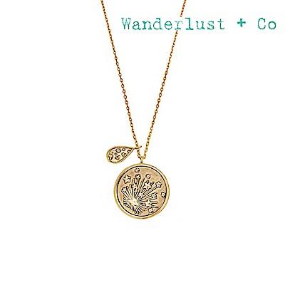 Wanderlust+Co 澳洲時尚品牌 閃耀光芒銀河項鍊 金色