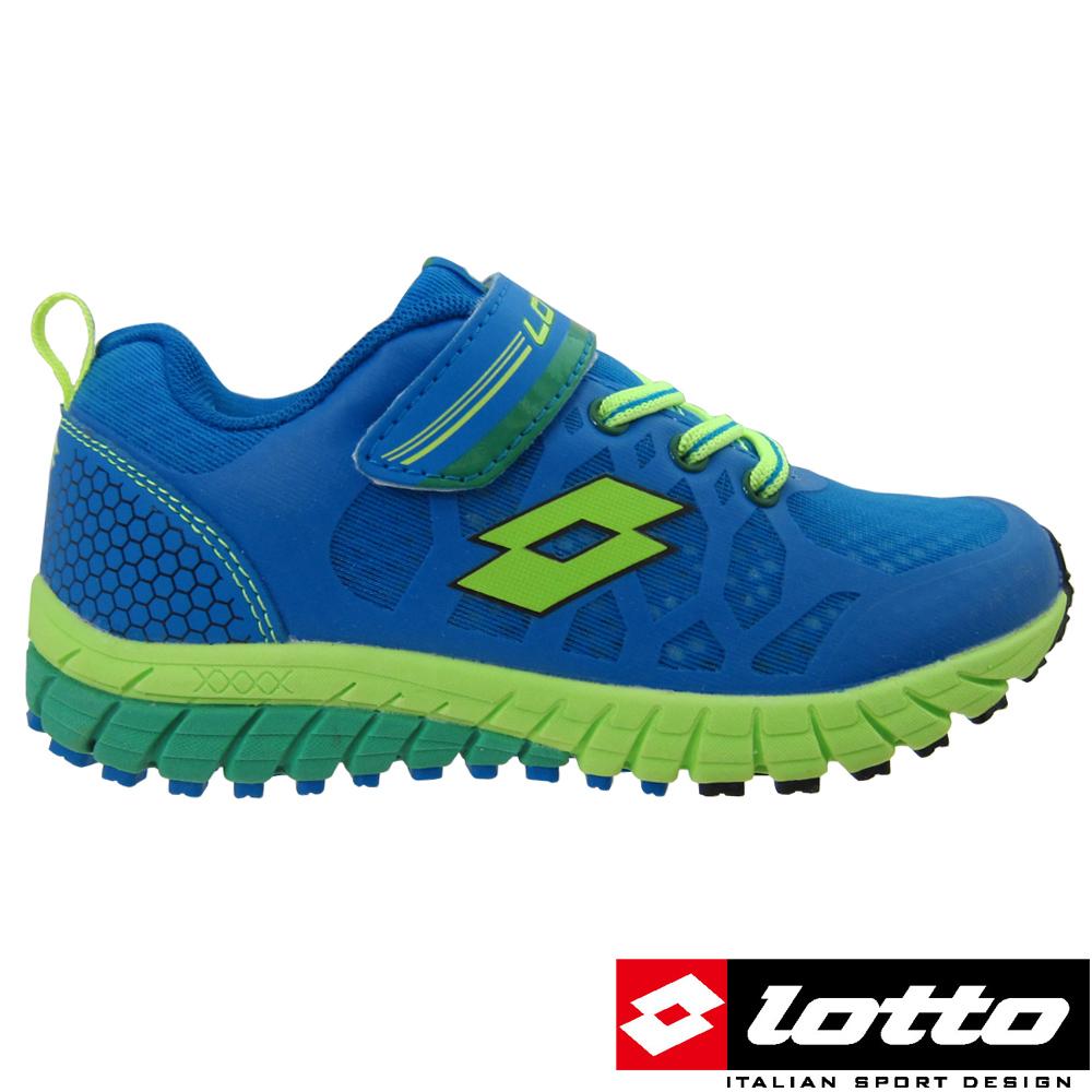 LOTTO義大利- 大童 避震跑鞋 (寶藍)