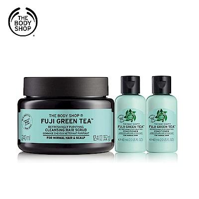 The Body Shop 富士山綠茶淨化潔髮(買1送2)