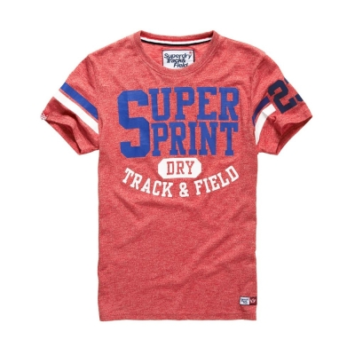 SUPERDRY 極度乾燥 短袖 文字TEE-紅色