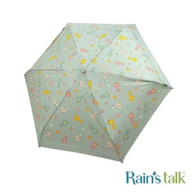 Rains talk 田園樂活抗UV手開三折傘(療癒鴨群) 3色可選