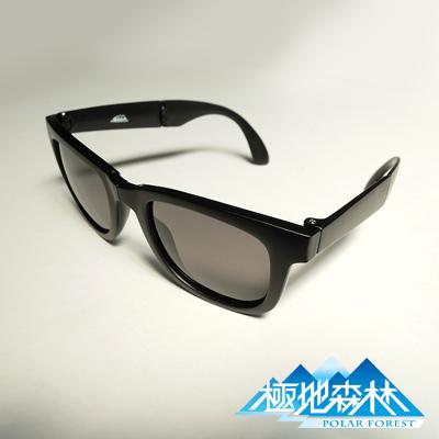 極地森林 深灰色TAC寶麗萊偏光鏡片輕巧型折疊式太陽眼鏡(2743)