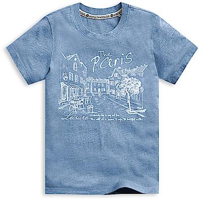101原創 我的悠閒日短袖T恤-麻花藍